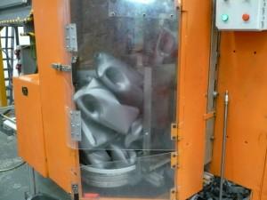 Crushed in machine